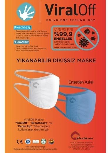 Panthzer  Viraloff Enseden Askılıyıkanabilir Dikişsiz Bez Maske Beyaz